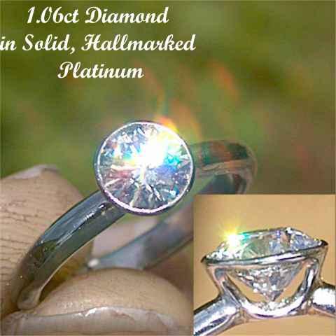 Elegant bespoke Platinum solitaire Diamond ring