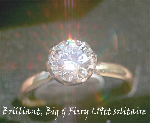 Fiery 18ct Gold solitaire