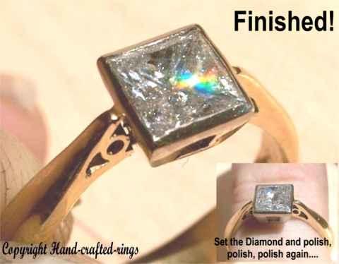 set the Princess Diamond into the ring and polish polish polish