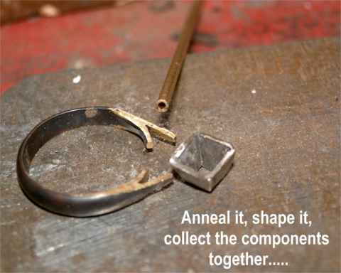 Form shape & anneal the Gold components