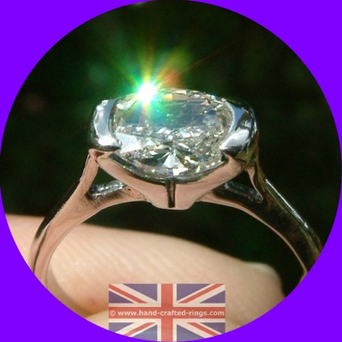SOLD! Handmade Platinum 1.08ct Oval Diamond Solitaire Ring