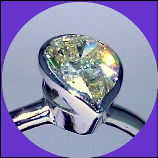 Platinum 1.5ct Yellow Pear shape Diamond Solitaire ring SOLD!